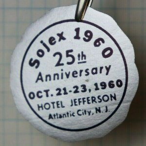 1960 SOJEX 25th Anniversary Atlantic City NJ Philatelic Souvenir Foil Seal Ad