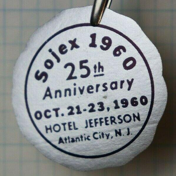 1960 SOJEX 25th Anniversary Atlantic City NJ Philatelic Souvenir Foil Seal Ad