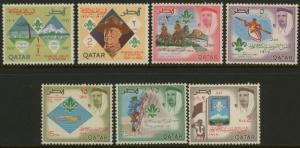 Qatar 125-125F MNH Scouts, Baden-Powell, Horse, Canoe