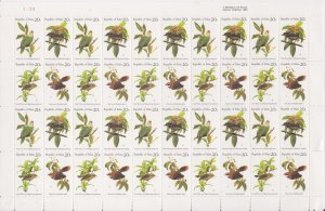 Palau Stamps: 1983 Native Birds Issue #5-8; Full Sheet of 40; MNH