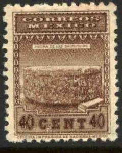 MEXICO 798, 40cts 1934 Definitive Wmk S.H.C.P. (272). MINT, NH. F-VF.
