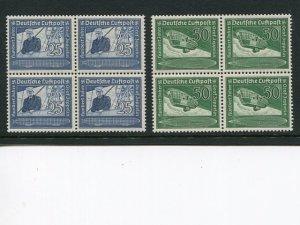 Germany #C59-60 blocks 4 VF Mint NH    - Lakeshore Philatelics