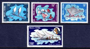 WALLIS AND FUTUNA — SCOTT 179-181,C41— 1972 SAILING CANOES SET — MLH —SCV $80.00