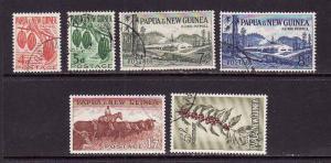 Papua New Guinea-Sc#140-6,ex #145-used definitives-1958-60-