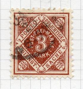 Wurttemberg 1921-22 Jan-May Issue fine used Shade 3M. 291149