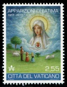 HERRICKSTAMP NEW ISSUES VATICAN CITY Sc.# 1652 Fatima Apparitions