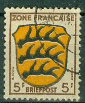 Germany - Allied Occupation - French Zone - Scott 4N3