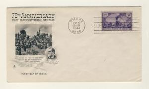 US -1944 Scott 922 FDC 3c 1st Transcontinental Railway (OMAHA, Art Craft Cachet)