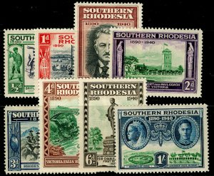 SOUTHERN RHODESIA SG53-60, COMPLETE SET, LH MINT. Cat £10.