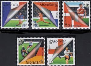 Gibraltar 2000, Soccer MNH  # 832-836