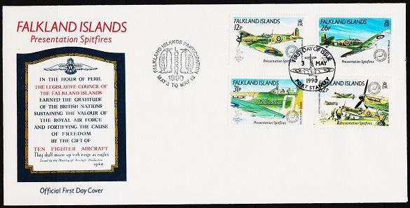 Falkland Islands. 1990 FDC. S.G.601/604  Fine Used