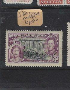SOUTHERN RHODESIA  (P0105B) KGVI TRAIN WATERFALLS   SG1  39   MNH