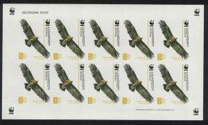 Georgia Birds WWF Greater Spotted Eagle 30t Sheetlet imperf SG#509 MI#527 SC#412