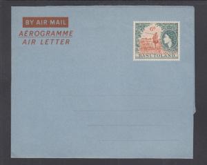 Basutoland H&G FG6 mint 1954 6p QEII & Shepherd Aerogramme, VF