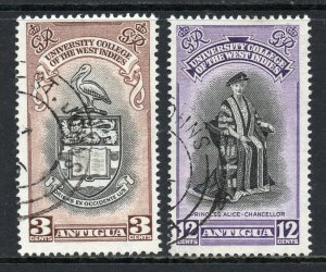 Antigua 1951 BWI University College set SG 118, 119 used