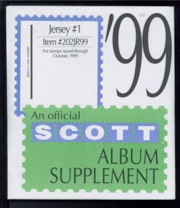 1999 Jersey #1 Scott Stamp Album Collection Supplement Pages Item #202JR99