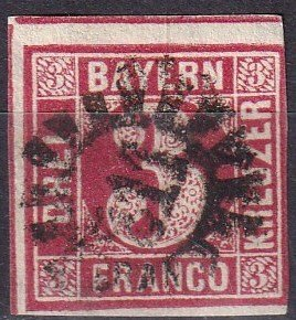 Bavaria #10  F-VF Used CV $4.00 (Z6818)