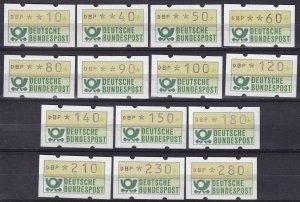 Germany Automatenmarken Coil Set MNH  (Z4190)