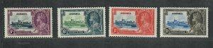 Jamaica Sc#109-112 M/LH/VF, Silver Jubilee, Cv. $17