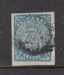 Norway #1 Used With Four Margins