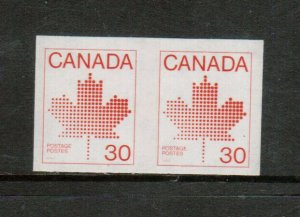 Canada #950a Extra Fine Never Hinged Imperforate Pair