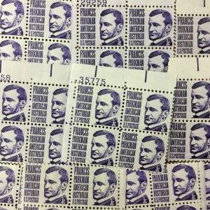 1281   Francis Parkman, Historian.  25 Plate blocks  mint 3 cents.  Issued 1967.
