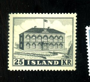 ICELAND #273 MINT VF OG VLH Cat $100