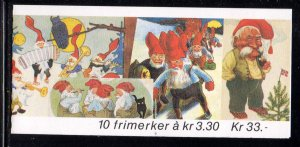 Norway Scott 1032b 1992 Christmas stamp booklet mint NH
