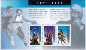 Canada #1344 Souvenir Sheet MNH - Sports Basketball James Naismith (1991)