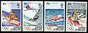 Cayes of Belize 14-17, MNH, Los Angeles Olympics, Watersports