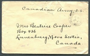CANADA WWII MILITARY COVER DATED - UNITED STATES DECLARES WAR ON JAPAN