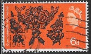 Great Britain 428 Used - Arts Festival -Trinidad Carnival Dancers