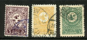 SAUDI ARABIA SCOTT# 129-131 FINELY USED AS SHOWN