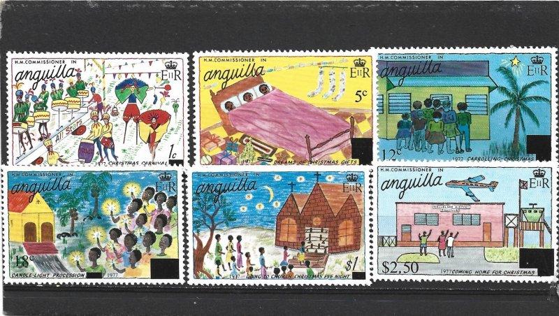 Anguilla 1977 Christmas Set MNH