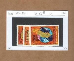 Laos  333-335  MNH