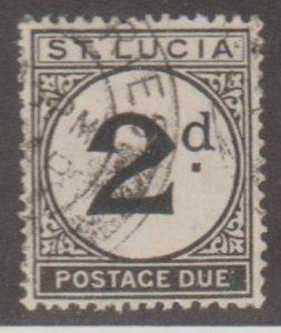 St. Lucia Scott #J4 Stamp - Used Single