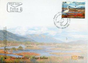 Montenegro 2021 FDC Europa Stamps Endangered Natl Wildlife Saline Birds 1v Set