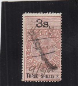 Fiji, Stamp Duty Tax, 3/S, Sc #10 (24925)