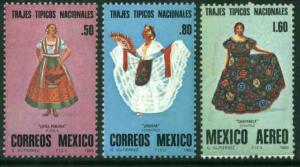 MEXICO 1197-1198,C636 Regional Costumes. MINT, NH. VF.