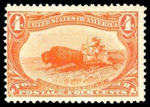 U.S. TRANS-MISS. ISSUE 287  Mint (ID # 73520)