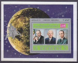 1969 Yemen Kingdom A809/B167 Apollon 11  Moon heroes  5,00 €