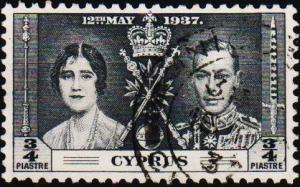 Cyprus. 1937  3/4pi S.G.148 Fine Used