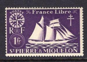 St. Pierre & Miquelon (1942) #306 MH