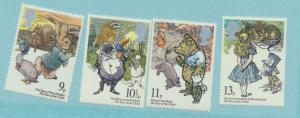 Great Britain Scott #867 To 870, Children's Books Issue From 1979, Mint Never...