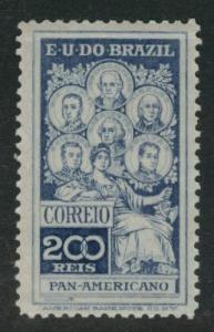 Brazil Scott 191 MH* 1909 stamp CV$13.50