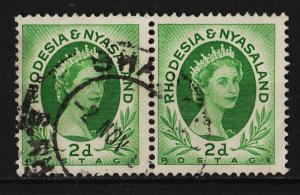 Rhodesia and Niasaland 1954/1956 Queen Elizabeth II 2p (1/16) USED