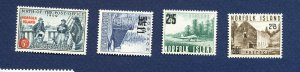 NORFOLK ISLAND - 25 & 26-28  - VF MNH - surcharge issues - 1959-1960