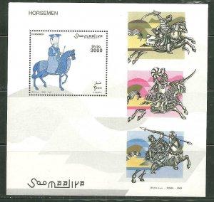 Somalia MNH S/S Horsemen LOOOOOK!!!!!