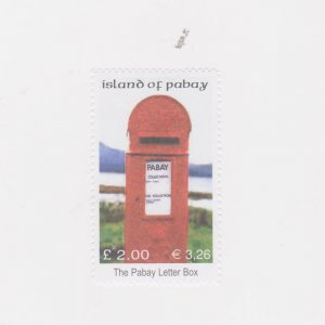 PABAY, British Local - 2002 - Pabay Letter Box - Perf MNH Single Stamp