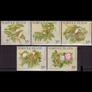 NORFOLK IS. 1981 - Scott# 287a-e Birds Set of 5 NH